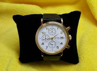 Citizen Chronograph 90年代石英錶,18K 750 gold