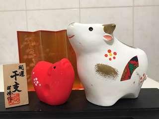 🚚 【日本 昭峰作】開運干支 紅白雙牛