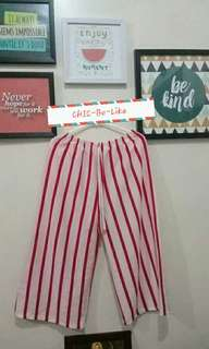 Repriced!!🔥Trendy Cullotes stripe red and white
