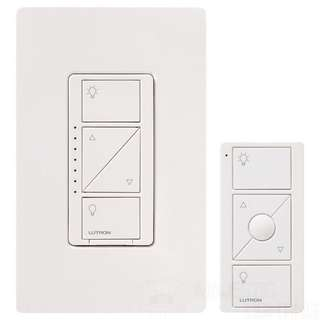 Caseta Wireless Smart Lighting Dimmer Switch and Remote Kit for Wall & Ceiling Lights, P-PKG1W-WH, White, Works with Alexa