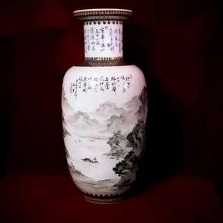 山水画大瓶  - 钓鱼台国宾馆珍品 - 一九六五年