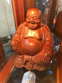 彌樂佛-檜木-手工製品-高25-寬20-出清1680