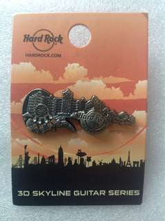 Hard Rock Cafe Pins - FOXWOODS HOT & RARE 2016 3D SKYLINE GUITAR SERIES!