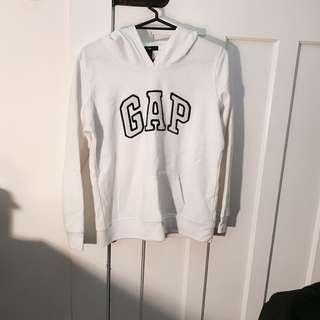 gap white hoodie