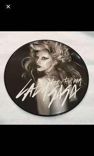 {Collectibles Item - Vintage Vinyl Record} Rare EXCLUSIVE PICTURE DISC VINYL RECORD 黑膠唱片 - BORN THIS WAY•LADY GAGA