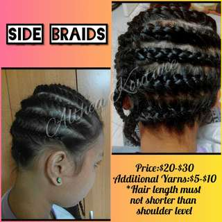 Hair Braids (Srictly for Woman only)