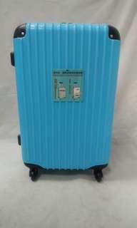 24吋藍色護角直條紋行李箱
