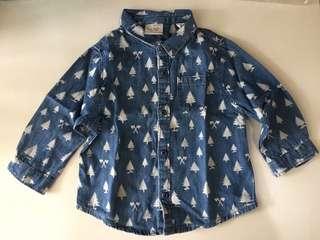 Kemeja bahan jeans bayi