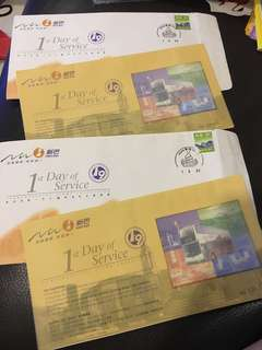 香港新巴 首日封 郵票