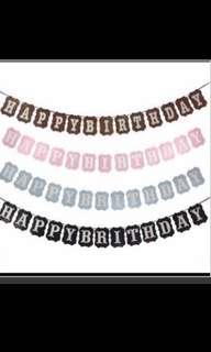 (INSTOCKS) Happy Birthday Bunting