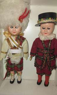Vintage royal scottish bagpiper doll
