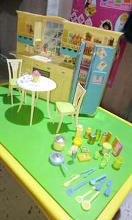 Barbie kitchen set by Mattel