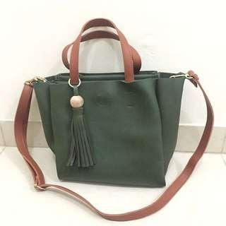 SALE! Green Army Boho Hand Bag