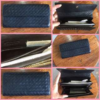 Bottega Veneta Intrecciato Woven Long Wallet