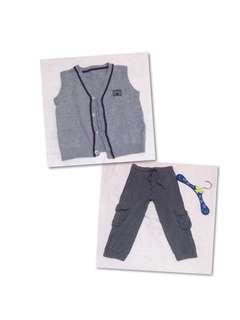 Mothercare Vest & Fox Jogging Pants