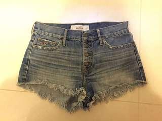 購自美國Hollister demin shorts 牛仔高腰短褲牛仔褲熱褲sexy pants american eagle款