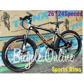 "CROLAN 26"" 24Speeds Sports Rims MTB ✩ Disc brakes, front suspension ✩ Brand new CROLAN bicycle"