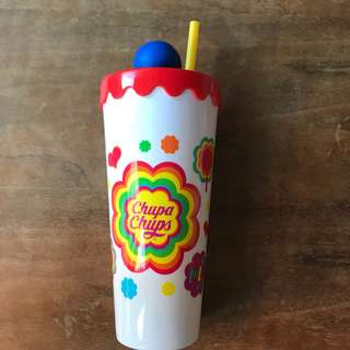 Chupa Chups bottle with straw (no candies inside)