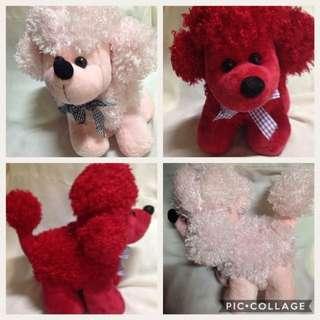 BUNDLE Twin Poodle Stuffed Animals