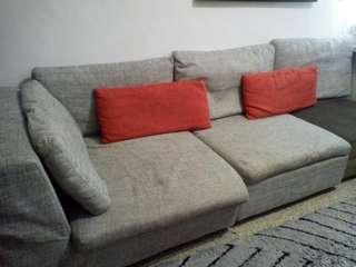 4~6人座沙發,可自組形狀,共三個,一個100*100公分