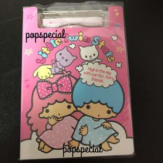 Last SET Little Twin Stars Clip Board With Memo Papers