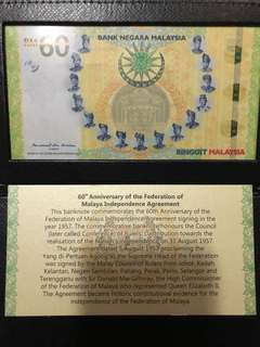 60th Commemorative BNM Notes