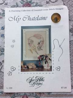 My Chatelaine Cross Stitch Chart with charm