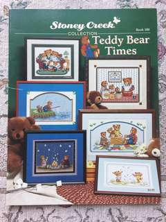 Teddy Bear Tines Cross Stitch Book