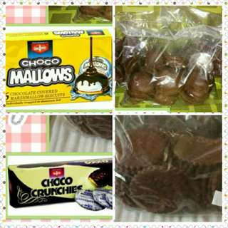 CHOCO MALLOWS and CHOCO CRUNCHIE