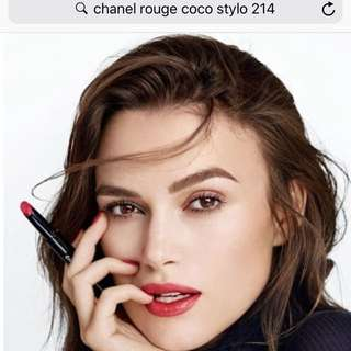 AUTHENTIC from Taka Chanel rouge coco style 214 POPULAR