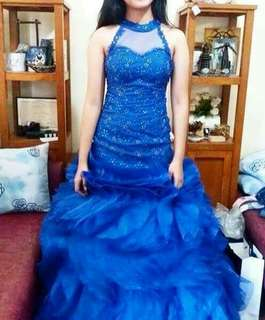 Royal Blue Ball Gown For Rent/Sale