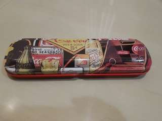 Coca Cola pen in metal case