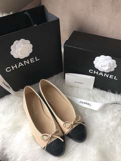 Chanel ballet flats shoes