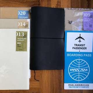 Midori Travelers Notebook Set (Black)