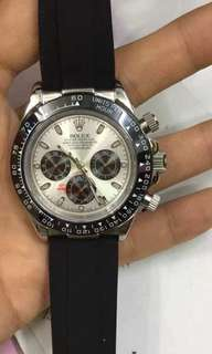 Rolex OEM waterproof watch with rubber strap high quality