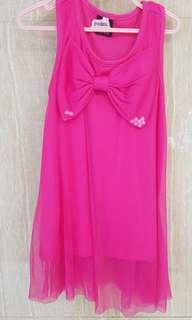 Dress anak fushia
