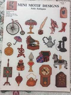 Mini Motif Designs Attic Antiques Cross Stitch Chart