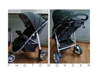 Graco Aire 3 stroller (Complimentary: Stroller raincover)