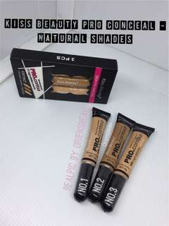 Kiss Beauty Pro Conceal HD High Definition Concealer Contour Eyes and Face