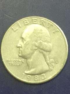 USA quarter dollar 1983, Vf