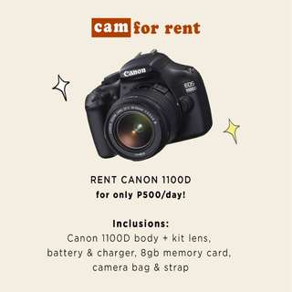 Canon 1100D FOR RENT @ 500/Day
