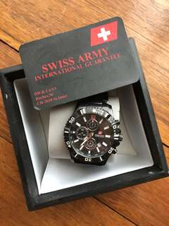 Preloved swiss army watch for man