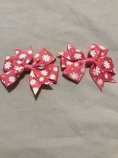 1pair Floral clip