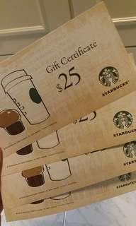 Starbucks 星巴克現金券