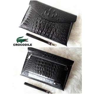 Handbag Clutch Kulit Branded Import Pria wanita Cowok crocodile murah