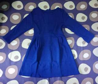 Long Sleeves Dress Brand New Royal Blue