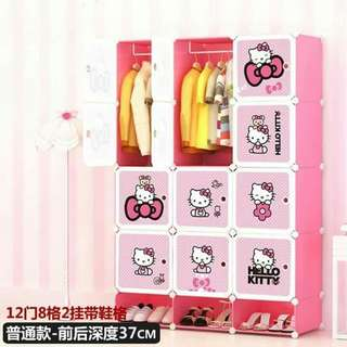 Hello Kitty DIY Cabinet (12 cubes)