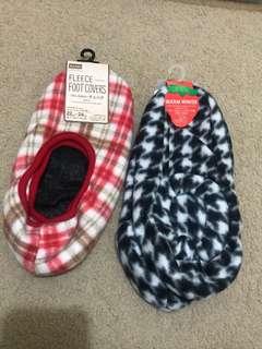 Fleece foot socks