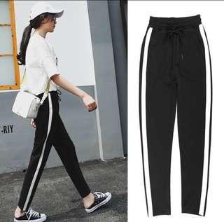 [READYSTOCK] Sport Casual Long Pants With Stripe #Ramadan50