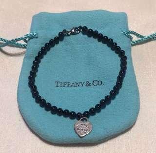 Tiffany black onix bracelet